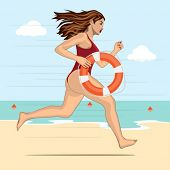 picture of lifeguard  - Running woman  - JPG