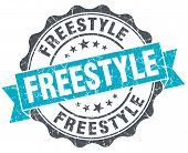 Freestyle Vintage Turquoise Seal Isolated On White