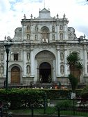 Facade of the Cathedral of San Jose , Antigua