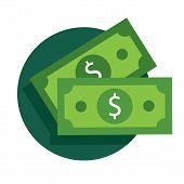 Vector Dollar Bill Icon