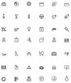 Set of the car service and repair related icons