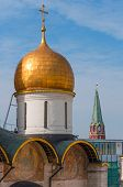 Russia. Moscow. Assumption Cathedral of Kremlin Orthodox Church, Patriarchal square.