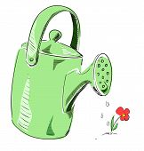 Watering can cartoon icon