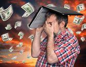 Dollar Rain - Finance Concept.