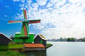 Authentic Zaandam mills on the water channel