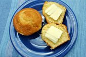 Corn Muffins and Butter