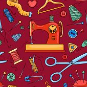 Seamless Sewing Pattern Red