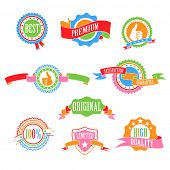 Abstract Color badges and ribbons