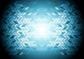 Hi-tech geometric blue background. Vector design