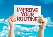 Improve Your Routine card with sky background