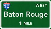 Baton Rouge USA Interstate Highway Sign