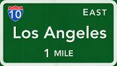 Los Angeles USA Interstate Highway Sign