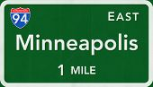 Minneapolis USA Interstate Highway Sign
