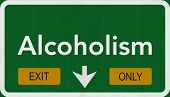 Alcoholism Highway Road Sign Exit Only