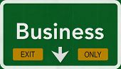 Business Highway Road Sign Exit Only