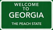 Georgia USA Welcome to Highway Road Sign