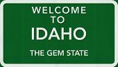 Idaho USA Welcome to Highway Road Sign
