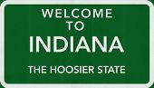 Indiana USA Welcome to Highway Road Sign