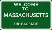 Massachusetts USA Welcome to Highway Road Sign