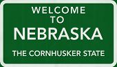 stock photo of nebraska  - Nebraska USA State Welcome to Highway Road Sign Illustration - JPG