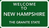 New Hampshire USA Welcome to Highway Road Sign