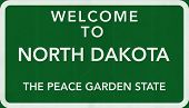 North Dakota USA Welcome to Highway Road Sign