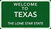 pic of texas star  - Texas USA State Welcome to Highway Road Sign Illustration - JPG