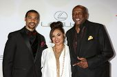 LOS ANGELES - FEB 6:  Aaron D. Spears, Estela Spears, Lou Gossett Jr. at the 46th NAACP Image Awards Arrivals at a Pasadena Convention Center on February 6, 2015 in Pasadena, CA
