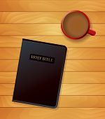Bible And Coffee Devotional Concept Illustration