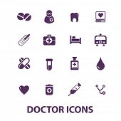 doctor icons set, vector