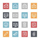 Email web icons set
