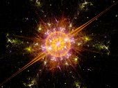 Colorful Explosion In Space
