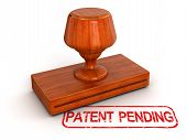 Rubber Stamp patent pending (clipping path included)