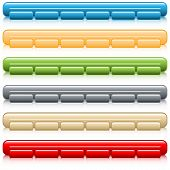 Web buttons navigation bars set