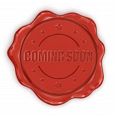 Wax Stamp Coming soon (clipping path included)
