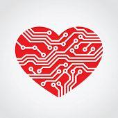 heart love / technology concept design