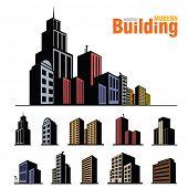 Vector buildings set