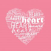love typography with heart shape