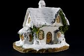 Winters Christmas Decoration With Small Toy Ceramic House
