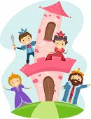 picture of stickman  - Illustration of Stickman Kids Dressed as Members of a Royal Family - JPG
