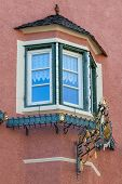 picture of south tyrol  - Typical window of house in South Tyrol  - JPG