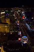 View From The Top Of Las Vegas And Its Strip At Night