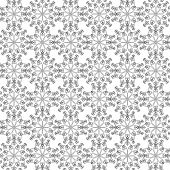 Abstract vector background Seamless floral texture Central asian ornament