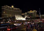 Las Vegas Bellagio Hotel At Night