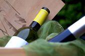 Wine-bottles In Wooden Winebox