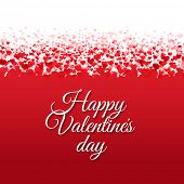 Happy Valentines Day Card With Hearts With Gradient Mesh, Vector Illustration