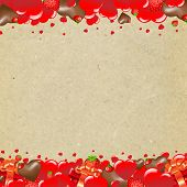 Happy Valentines Day Border With Heart With Gradient Mesh, Vector Illustration
