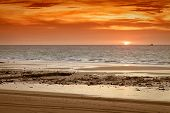 An image of a beautiful sunset at Broome Australia