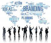 Branding World Global Marketing Identity Individuality Concept