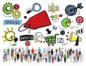 Diversity Casual People Branding Team Aspiration Goal Concept